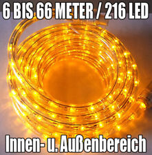 LED Lichtschlauch Lichterschlauch Lichterkette Leuchtschlauch gelb 6,6 Meter
