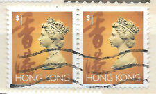 Hong Kong 2x $1 stamps - see scan