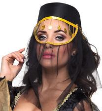 Orientalischer Kopfschmuck mit Schleier NEU - Karneval Fasching Hut Mütze Kopfbe