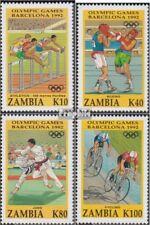 Sambia 615-618 (complète edition) neuf avec gomme originale 1992 Jeux Olympiques