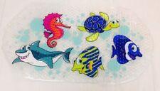 Sea Creatures Fish PVC Anti/Non Slip Kids Toddler Shower Bathroom Bath Mat