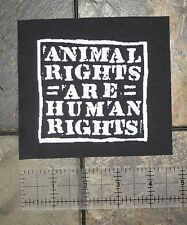 Animal Liberation Patch - Front ALF Rights ELF Vegan Vegetarian Human Earth