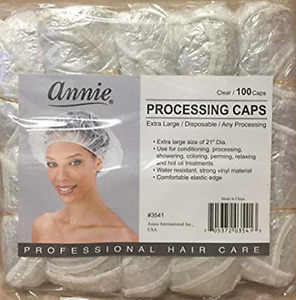 """""""ANNIE"""" Extra Large Processing Caps Clear 100 Caps 1 pack"""