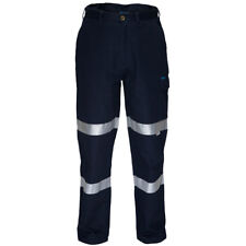 PRIME MOVER MD701/WWP701D 100% Cotton Drill Pants NAVY w 3M Reflective