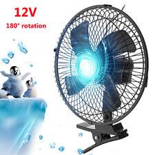 10'' 12V Rotation Car Van Clip On Oscillating Fan Strong Summer Air Cooler AU