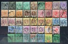 Malaya Singapore 1921-33 Straits Settlements KGV 41V USED MSCA SG#218-241 M2504