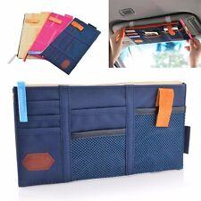 CAR Sun Visor Organizer All Vehicles Blue Zippered Cel Phone Tablet Holder