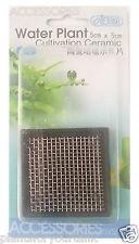 ISTA Aquarium Moss Aquatic Water Plant Cultivation square Ceramic Platform
