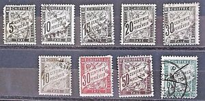 France Early Used Postage Dues.
