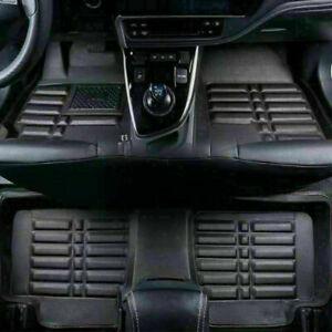 Newest PU Leather Car Floor Mats 5PCS Front Rear Universal Carpet Decor Pads Set