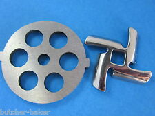 "1/2"" Meat Grinder plate disc & knife for Rival Sunmile & Deni"