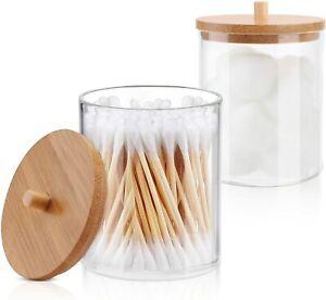 Cotton Ball Pad Round Swab Holder for Bathroom Accessories Storage Organizer Jar