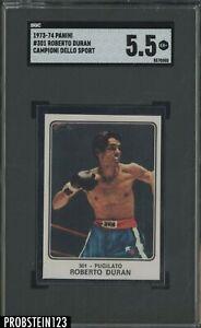 1973-74 Panini Campioni Dello Sport Boxing #301 Roberto Duran RC Rookie SGC 5.5