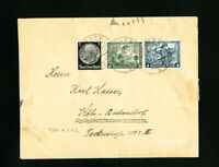 Germany Stamps on Scarce Cover with 5x 1932 Sports Labels