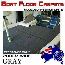 2M Wide X 3M Do-It-Yourself Boat Carpet Bass Marine Underlay Floor Remedy Grey