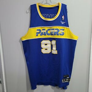 Rare VTG Reebok HWC Indiana Pacers Ron Artest 91 Throwback Jersey Mens 2XL Sewn