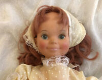 """VINTAGE 16"""" IDEAL 1971 PLAY N JANE DOLL, Original Red Shoes, Yellow Outfit"""