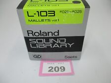 Roland L-103 Mallets Vol 1 Sound Library Quick Disk NOS #209