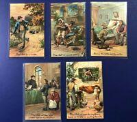 5 Ten Commandments Antique Postcards. 1900s. Collector Items. PFB Publisher.