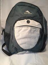 High sierra backpack large book bag dark green Adjustable Straps Mesh Side Pocke