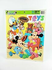 DISNEY BABIES frame puzzle Walt cartoon Donald Duck toy-room tray Mickey 1980s