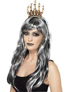Voodoo Bone Crown Ladies Halloween Skeleton Fancy Dress Accessory