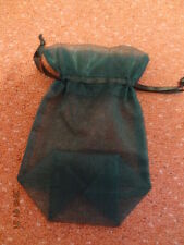 JEWELLERY BAG - EMERALD GREEN VOILE WITH SATIN DRAW RIBBON