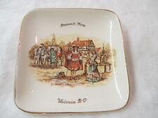 Vintage England Lancaster & Sandland Ware Souvenir Butter Dish Ye Olden Days