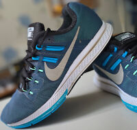 Men's Nike Zoom Structure 19 Flash Running Trainers Blue/Silver UK 7 806578-400