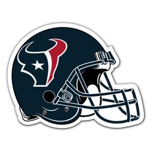 "HOUSTON TEXANS Helmet NFL Team Magnet Large 12"" Home Auto Fremont Die Licensed"