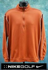 Nike Golf 1/2 Zip Therma-Fit Cover-Up Pullover Mock Neck Sweatshirt M Orange