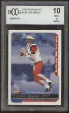2000 Pacific Paramount #138 Tom Brady Patriots Bucs RC Rookie BCCG 10