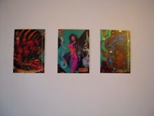 CYBERFORCE  CHROMIUM   TRADING CARDS  95  SET DE 3 BONUS CARDS  HOLOCHROME RARE