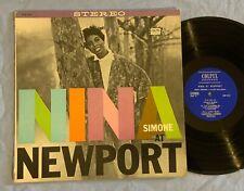 NINA SIMONE LP Live At Newport COLPIX original STEREO nice copy