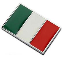 Alloy National Flag Of Italy Auto Decal Emblem Italian Flag Car Sticker Badge
