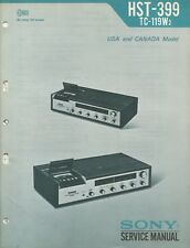 Sony HST-399 TC-119W2 Original Stereo Music System Service Manuals