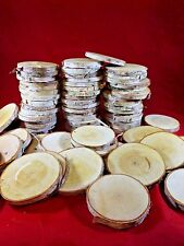 """25 BIRCH WOOD SLICES 3"""" WOODEN CRAFTS WEDDING ORNAMENTS COASTERS DRIED"""