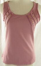 MEXX Träger Stretch Shirt Gr. S = 36-38 rosa Hemd Top T-Shirt Polera Baumwolle
