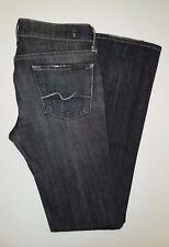 7 For All Mankind Black Distressed Wash Straight Leg Jeans Sz. 26 X 33