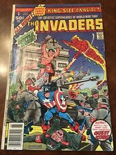Marvel The Invaders King-Size Annual #1 comic book bronze age 1977