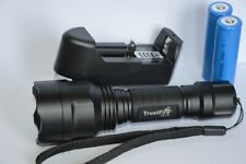 Torcia caccia Potentissima 1300 Lumen Trustfire T6 + 2 batterie 18650,caricabatt