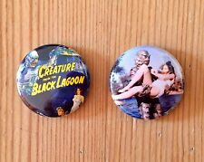 CREATURE FROM THE BLACK LAGOON (MOVIE) - SET OF 2 BUTTON PIN BADGES