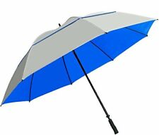 SunTek 68� Uv Protection Windcheater Umbrella with Vented Canopy Silver Blue