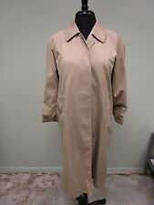 Burberrys London Trench Coat Lined Button Up Women's Size 8 Petite Nice!