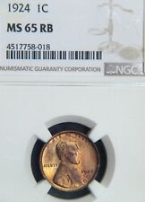 1924 Lincoln Cent  NGC MS65RB  (C9958)