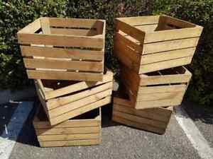 6 x Vintage Wooden Apple Crates