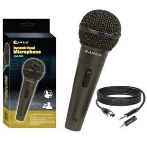 Sansai Dynamic Professional Vocal Microphone Corded Mic for PA Speaker/Studio