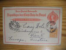 Brazil/Brasil uprated PS Stationery 1924 Jaguarao via Porto Alegre to Vienna