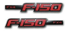 09-14 FORD F150 FX4 RED APPEARANCE BADGE EMBLEM L/R FENDER KIT 2 PIECE OEM