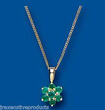 Emerald Colgante Collar Oro Amarillo Esmeralda Núcleo De
